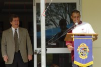 Clr Dr John Brodie, Mayor and David Johnson, President