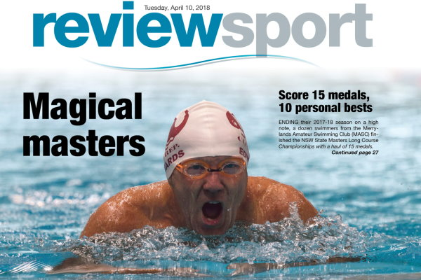 Graham EdwardsGraham Edwards swims in the 100m Breaststroke at the 2018 NSW State Masters Championships.