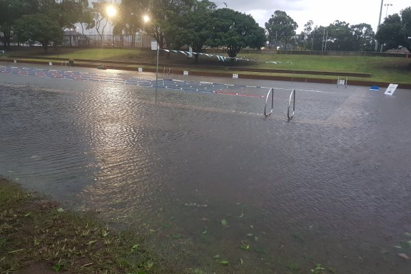The storm on Friday 8th February 2019 caused damage to infrastructure at Merrylands Swimming Centre, dumping mud and debris from the storm overflow through the swimming centre into the 50 metre pool.
