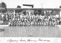 1968-1969 - Merrylands Amateur Swimming Club - Babies Pool, Merrylands Oval Grandstand in the background
